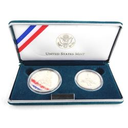 1995 U.S. Proof Liberty Half and One Dollar Coins