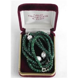 Estate Gemstone Necklace with Pearls