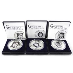 Lot (3) Hollywood Legends 925 Silver - $5.00 Proof