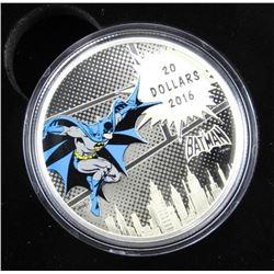 .9999 Fine Silver $20.00 Coin 'DC Comics 'The Dark
