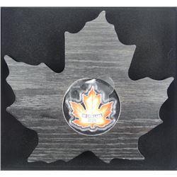 2016 .9999 Fine Silver $20.00 Coin 'Maple Leaf' wi