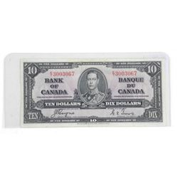 Bank of Canada 1937 Ten Dollar Note. BC-24c C/T