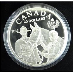 .9999 Fine Silver $20.00 Coin 'Queen and RCMP' LE/