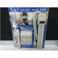 New Electric Bundle / 2 Surge Protectors / Extension Cord / Night Light