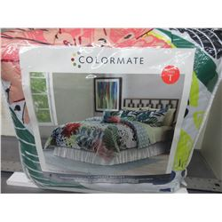 New Colormate Twin 6 piece Complete Bed Set