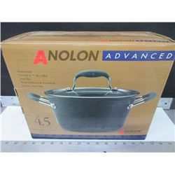 New Anolon Advanced 4.5 quart covered tapered Sauce Pot