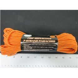 New 100 feet of 550lb Reflective Paracord 7 strand / Excellent for Tents /