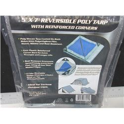 New 5 x 7ft Poly TARP / perfect for small loads/ firewood and more