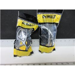 2 New DeWalt Safety Glasses / Clear lense Model # DPG95c
