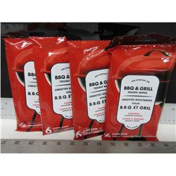 4 New Packs of BBQ & Grill Tough Wipes / powerful super sized / 6 per pack