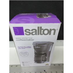 New Salton 1 cup Coffee Maker / includes mug and permanent filter