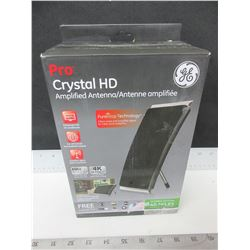 New GE Pro Crystal HD Amplified Antenna / get free local TV / 4k Ultra HD