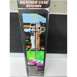 New Weather Vane Station / 5 functions / rain gauge , thermometer / more