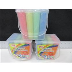 3 Cases of Jumbo Sidewalk Chalk / 12 pieces per case Assorted colors