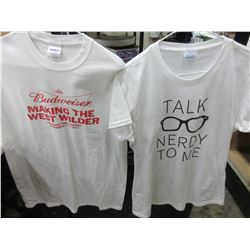 2 New White T-Shirts size Medium