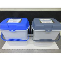 2 New 2 Gallon Pet Food Containers / keeps food fresh / seals out pests