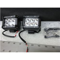 New set of 2 LED  Off Road  Lights 6 LED's / 1800LM / 50,000 HRS