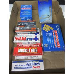 Large First Aid Bundle / Bandages and Assorted Creams/ good value here