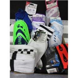 Large Bundle of Soccer Shin Gaurds and Socks / Assorted sizes and colors