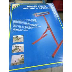 "New Samona Roller Stand / height  24 - 42"" folds flat / ball bearing roller"