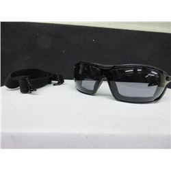 2 New Pair UVEX  S4041 Safety Glasses / black frame with headband / grey