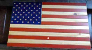 Donation Lot Wooden American Flag Gun Case