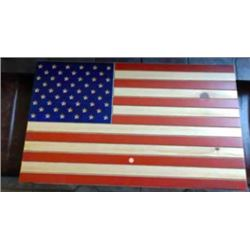 DONATION LOT - WOODEN AMERICAN FLAG GUN CASE