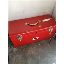 EATONS VIKING RED TOOL BOX W/ CONTENTS