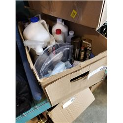 BOX OF VARIOUS CLEANERS