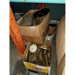 LOT OF BRASS CLOCK PARTS