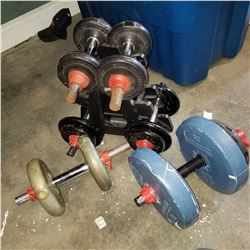 LOT OF DUMBELLS