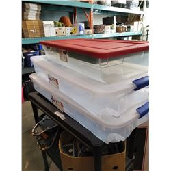 LOT OF UNDERBED STORAGE TOTES