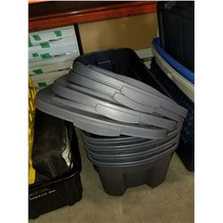 4 LARGE RUBBERMAID TOTES W/ LIDS