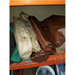 2 LEATHER GARMENT BAGS