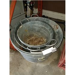 5 GALVANIZED WASH TUBS
