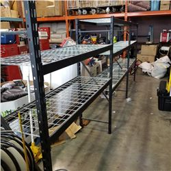 LOT OF BLACK METAL ADJUSTABLE SHELVING