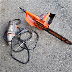 REMINGTON 7AMP CHAINSAW ELECTRIC AND CORDED IMPACT GUN