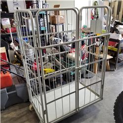 NEW LARGE ROLLING CAGE CART