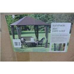 HOME STYLES STEEL SUNSHADE 8 x 8 COMPLETE