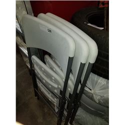 3 ENDURO FOLDING CHAIRS