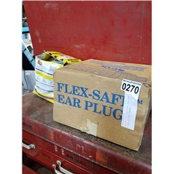 BOX OF 200 FLEX SAFE EARPLUGS & BOX OF DUST MASKS