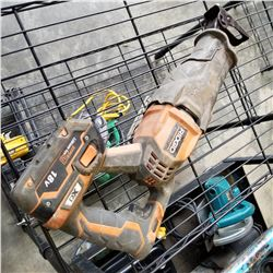 RIGID CORDLESS SAWZALL WITH BATTERY TESTED AND WORKING
