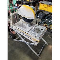 BRICK CUTTER SAW W/ HOSE AND STAND MP3 MASONARY SAW BY MULTIQUIP TESTED AND WORKING
