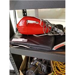 SMALL CHANDELIER AND CAR VACUUM AND CAR HEATING PAD