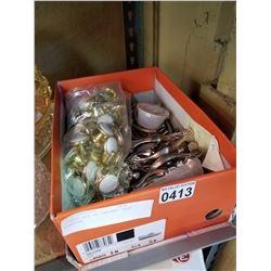ORANGE BOX OF CABINET DOOR HANDLES