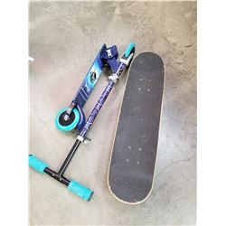 SKATEBOARD AND SCOOTER