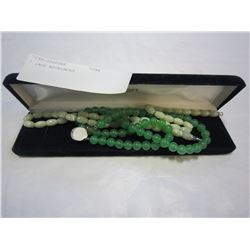2 JADE NECKLACES