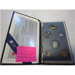 1991 CANADIAN SPECIMIN SET WITH RARE 1991 QUARTER MS 67 $50-75