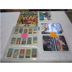 1911 C-55 HOCKEY IMMORTAL REPRINT SET PLUS BOOK AND 5 LARGE HOCKEY CARDS, CROSBY, OVECHKIN, ORR, GRE