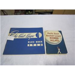 PACIFIC COAST BASEBALL LEAGUE RECORD BOOK AND 1953 PACIFIC COAST BLUE BOOK
